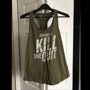 Kill Cliff Kill the Quit Women's Tank Size medium